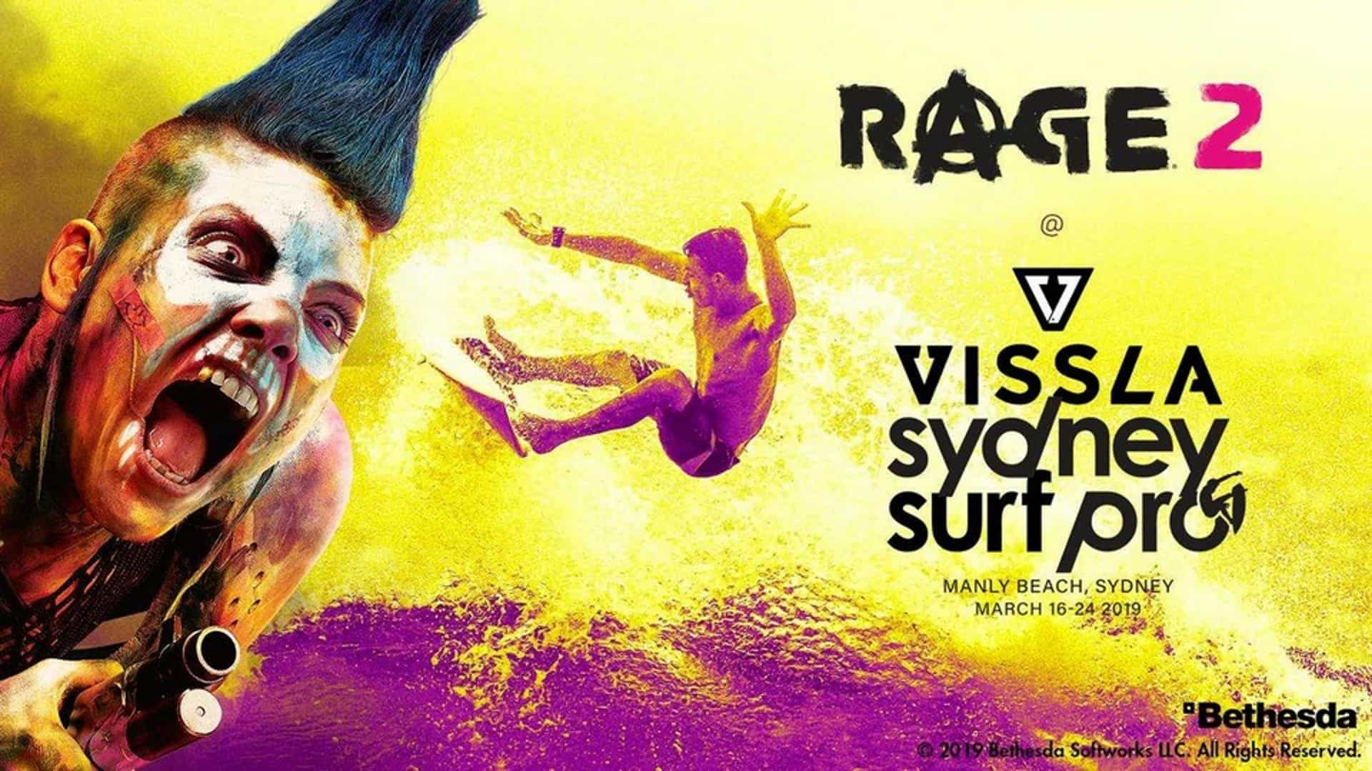 RAGE 2 Is Coming To Vissla Sydney Surf Pro This Year