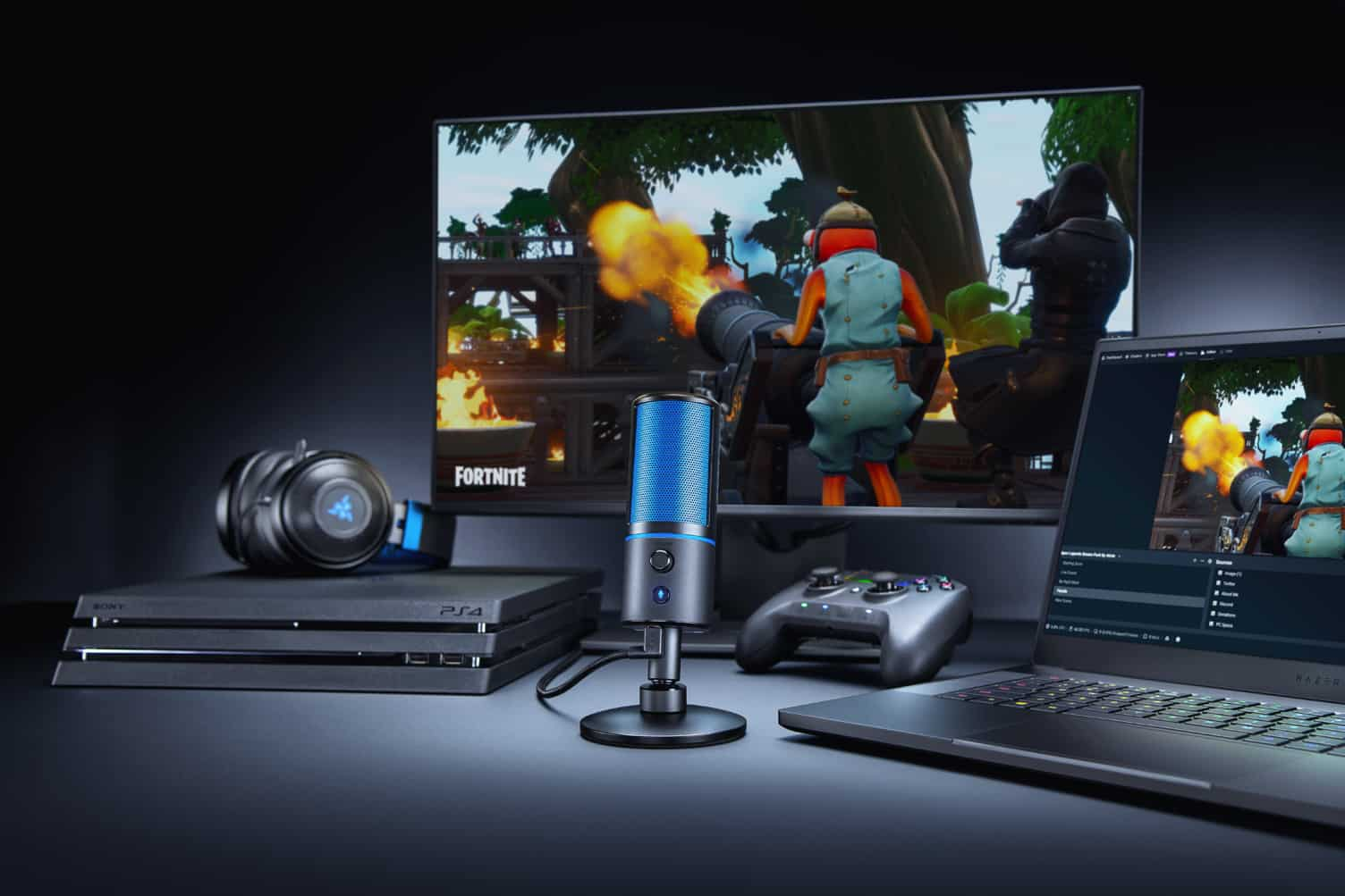 The Acclaimed Razer Seiren X Streaming Microphone Comes To The PlayStation 4