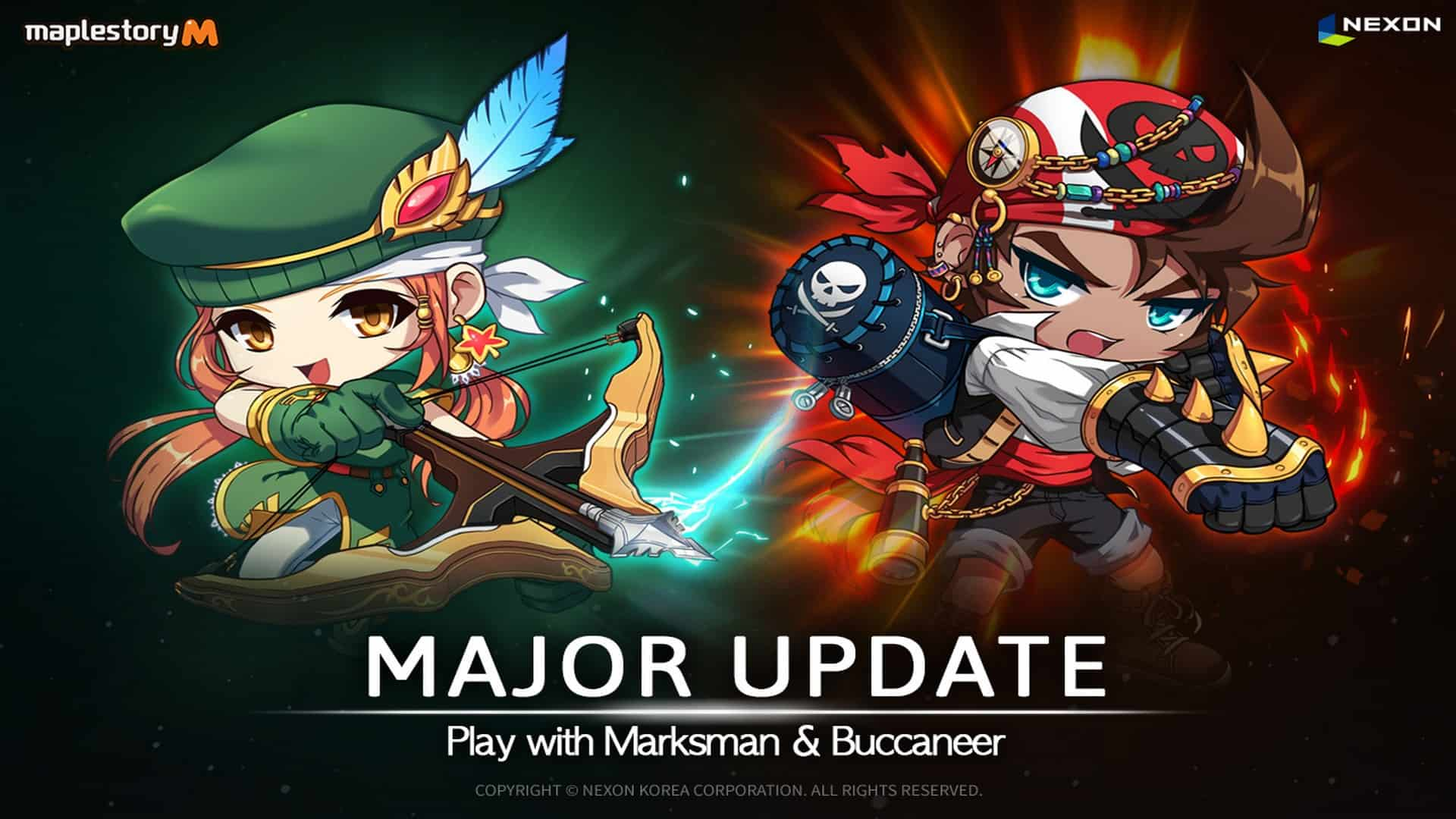 Major MapleStory M Update Brings Two New Explorer Classes; Buccaneer and Marksman