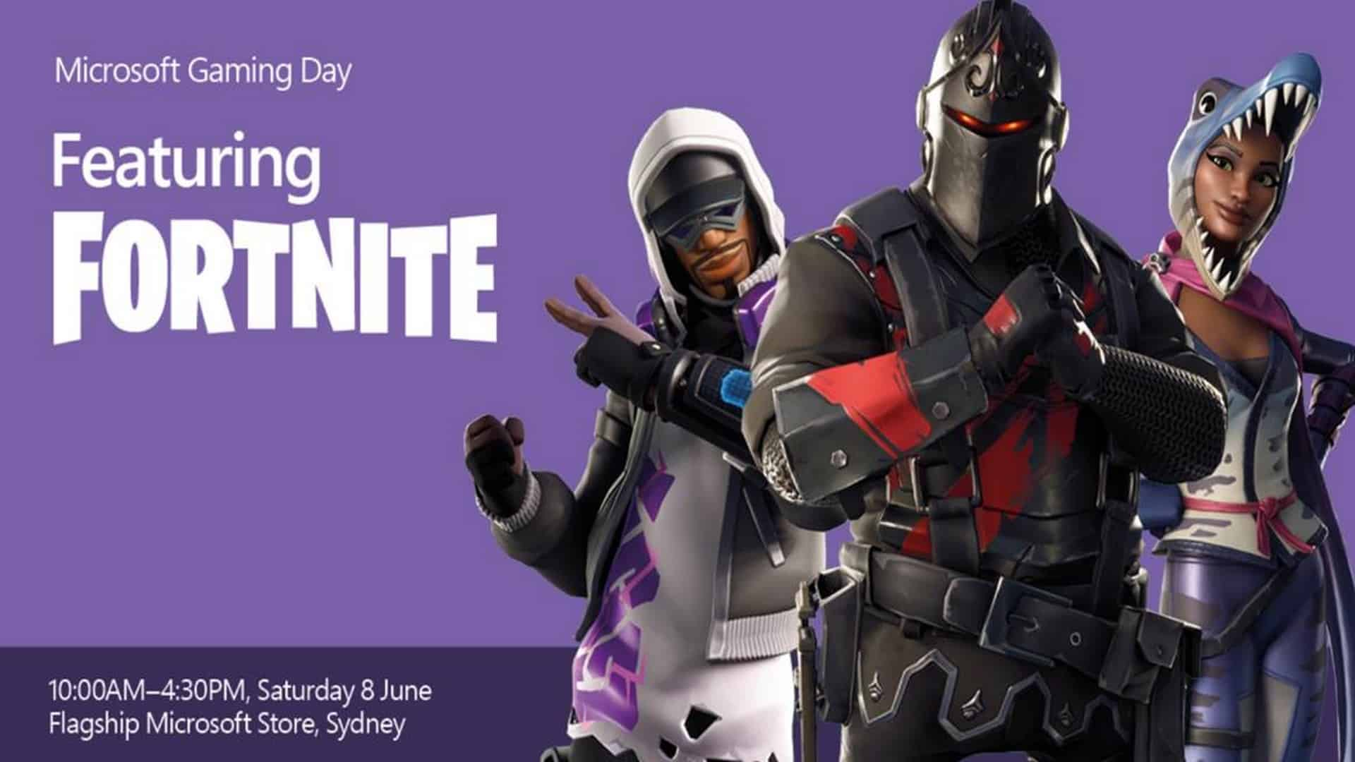 Flagship Microsoft Store Sydney Announce The Return Of Gaming Day Ft. Fortnite