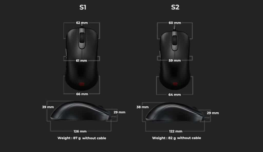 BENQ Zowie S1/S2 Series Esports Mice - Review