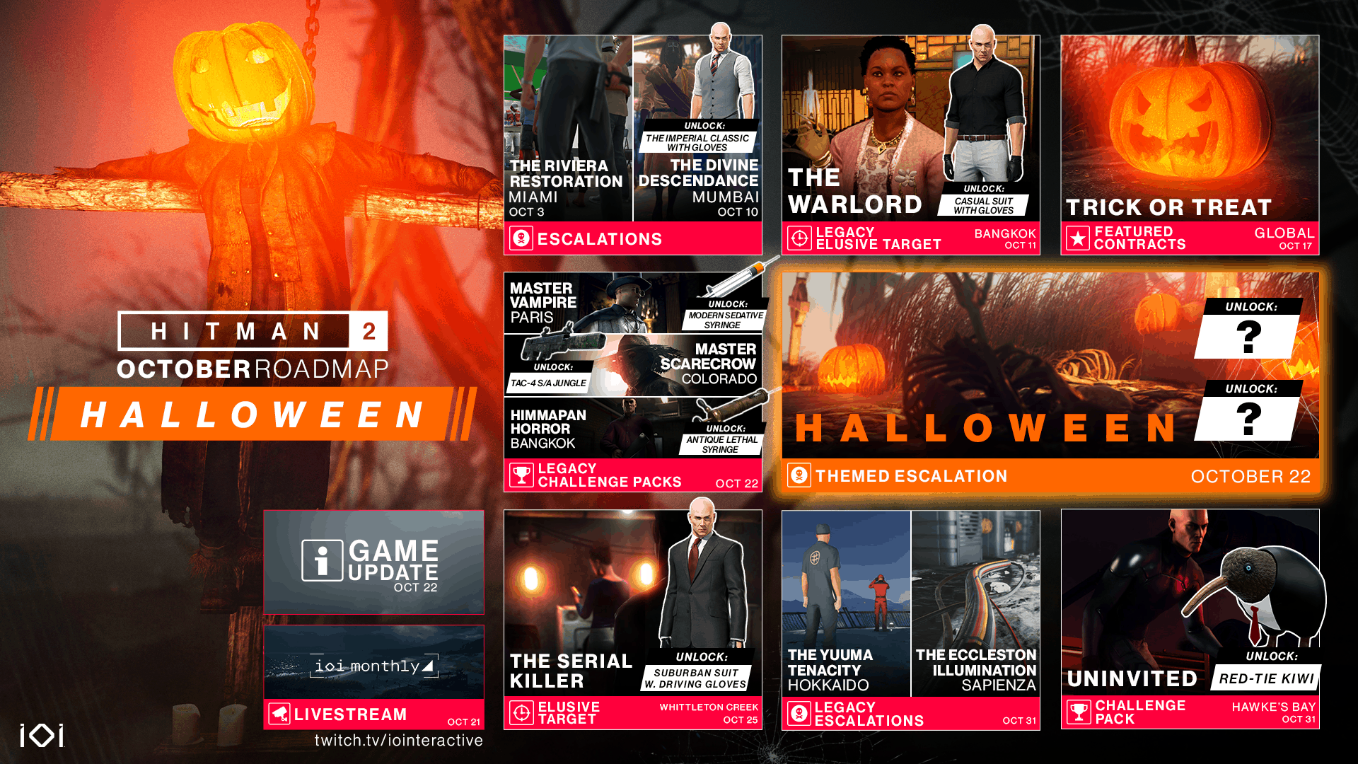 HITMAN 2 Free Content Updates Announced as Part of October Roadmap