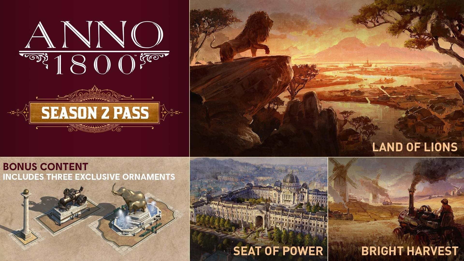 Ubisoft Announces The Season 2 Pass For ANNO 1800 With The First DLC Releasing On March 24