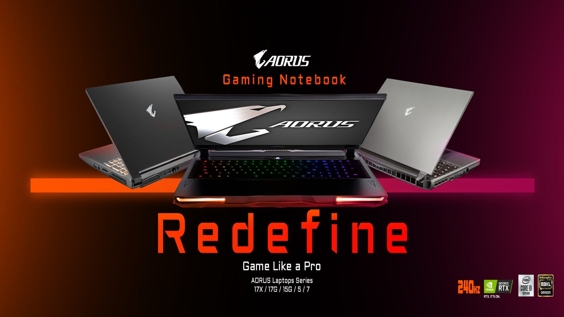 "Redefining Gaming Notebooks! GIGABYTE AORUS/AERO ""Game like a Pro"""