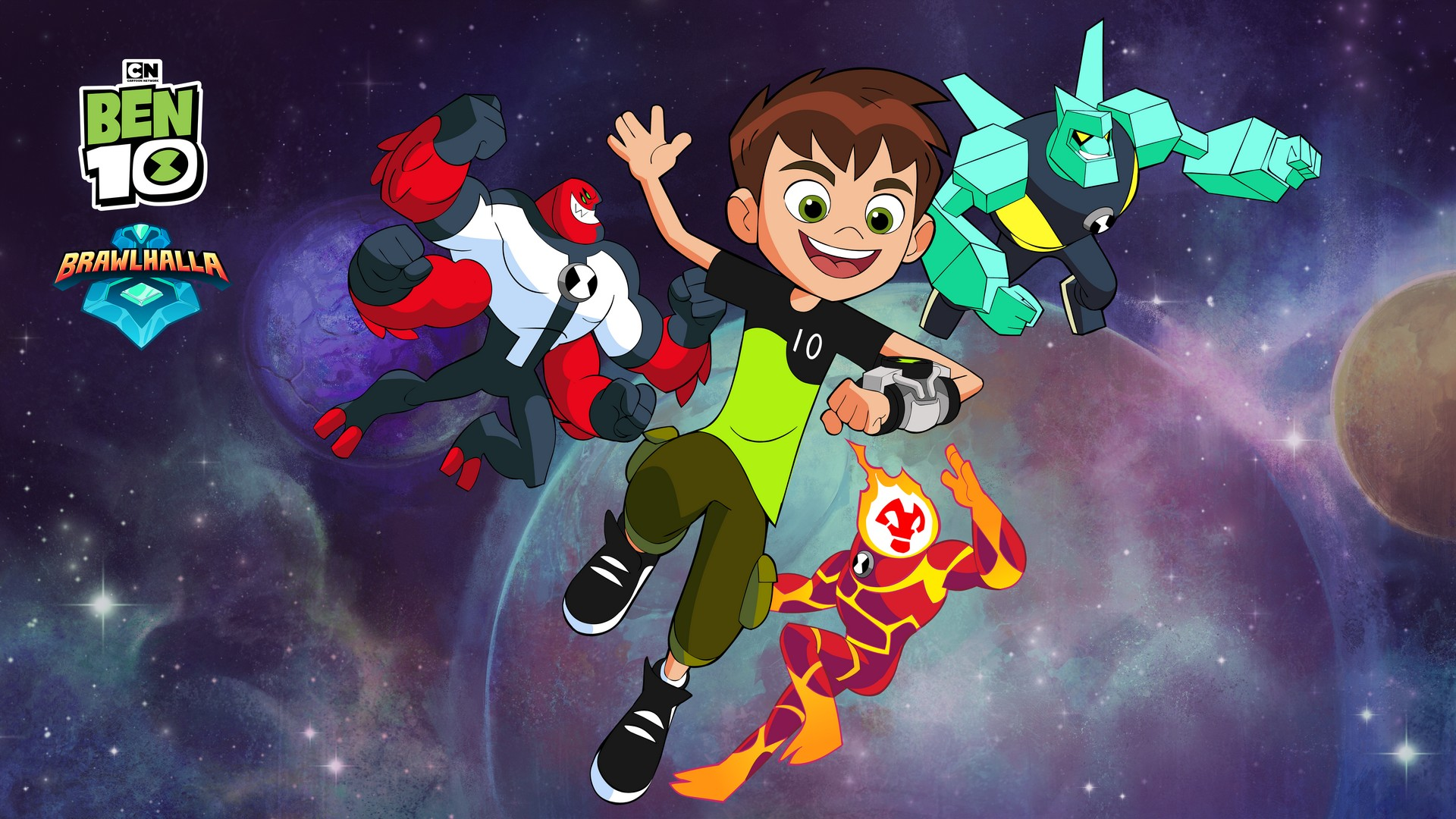 Cartoon Network's Ben 10 Crash Lands into BRAWLHALLA as Epic Crossovers