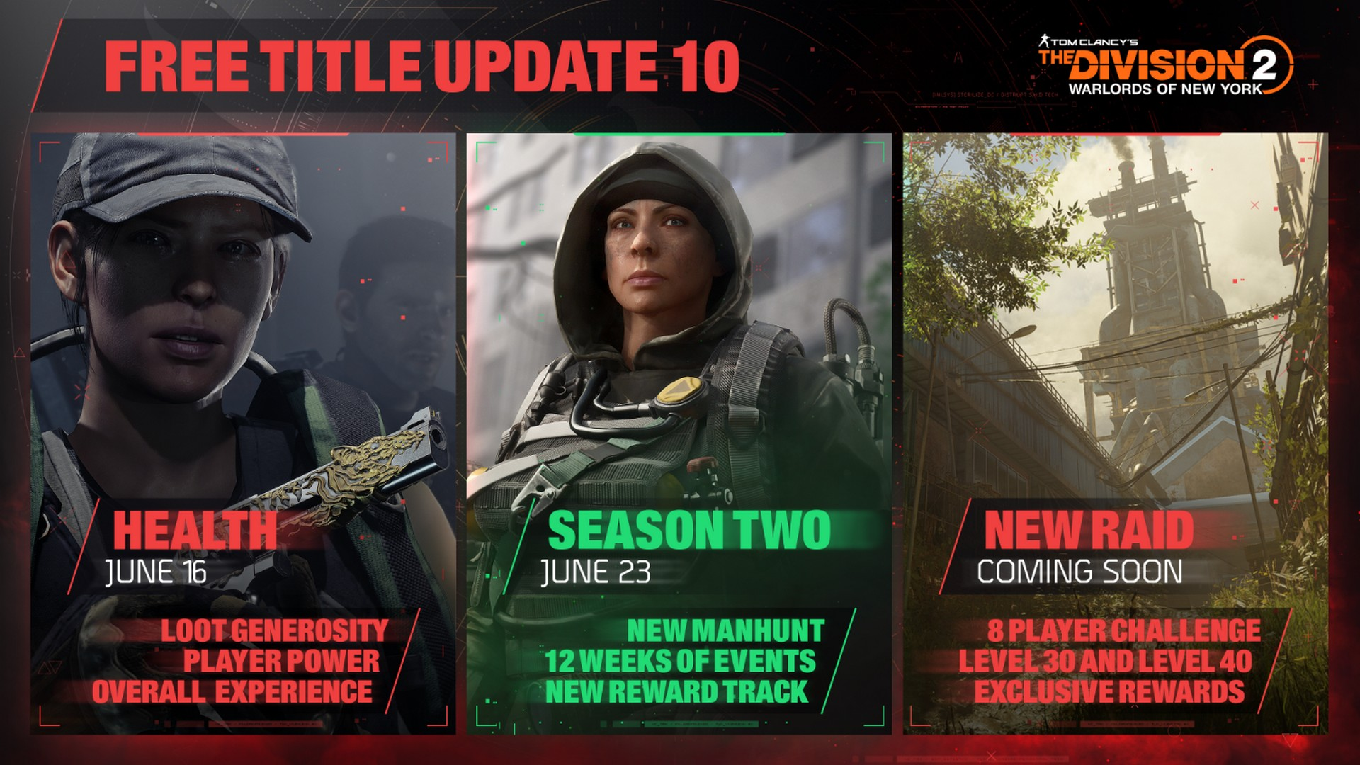 Title Update 10 For Tom Clancy's The Division 2 Will Start Unrolling June 16