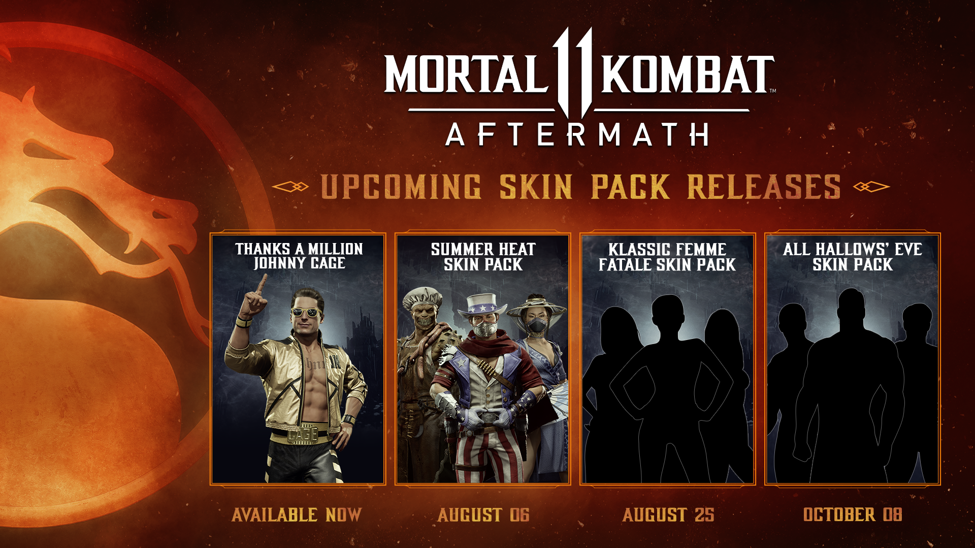 New Summer Themed Character Skin Pack Coming Aug 6 as Part of Mortal Kombat 11: Aftermath Expansion