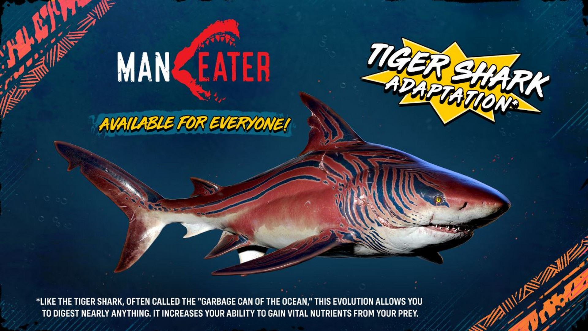 Take A Bite Out Of Shark Week! All Maneater Players Receive Tiger Shark Adaptation For Free Today