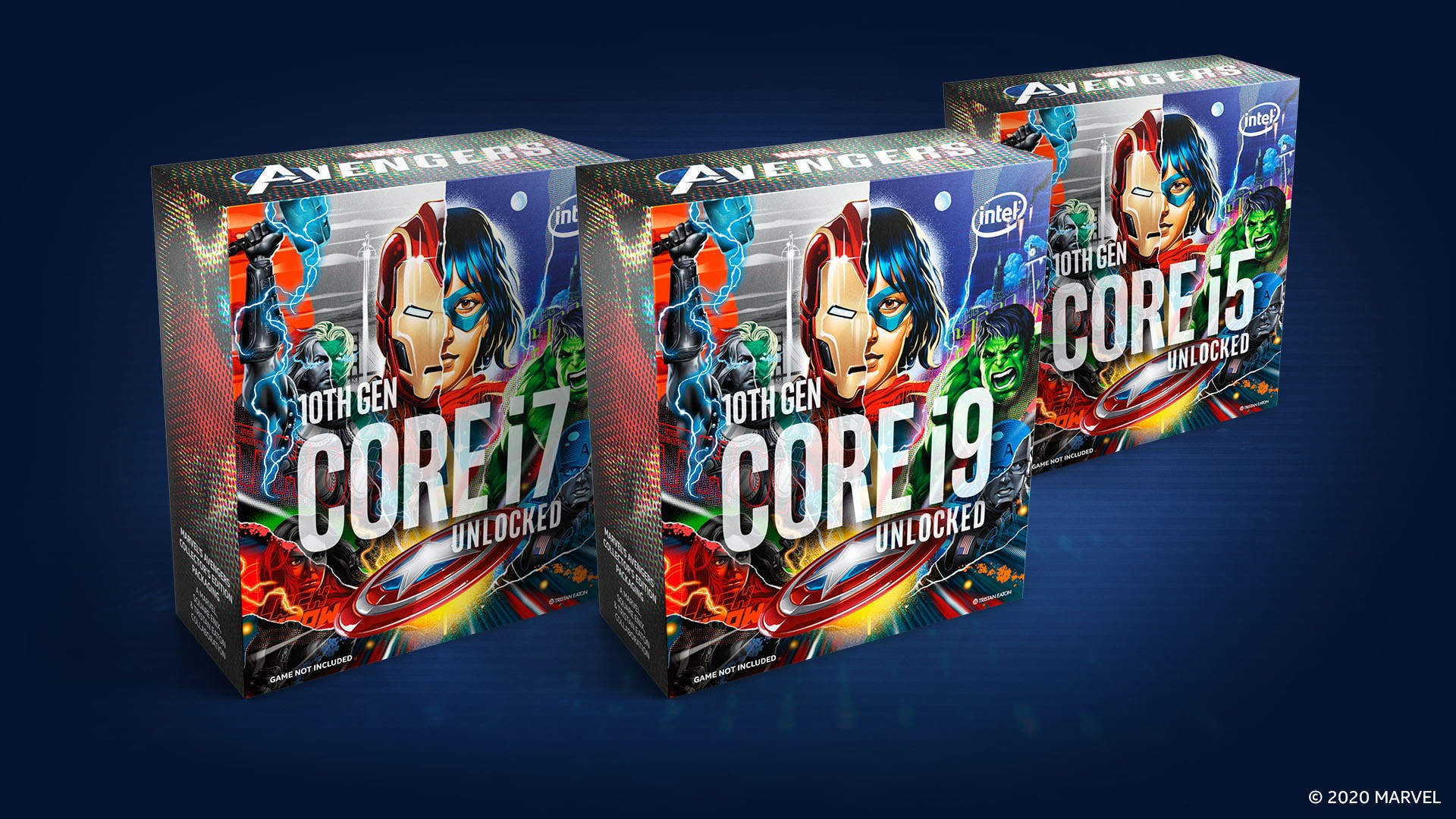 Tristan Easton & Intel Collaboration Features Marvel's Avengers 10th Gen Intel Core Collector's Edition Packaging