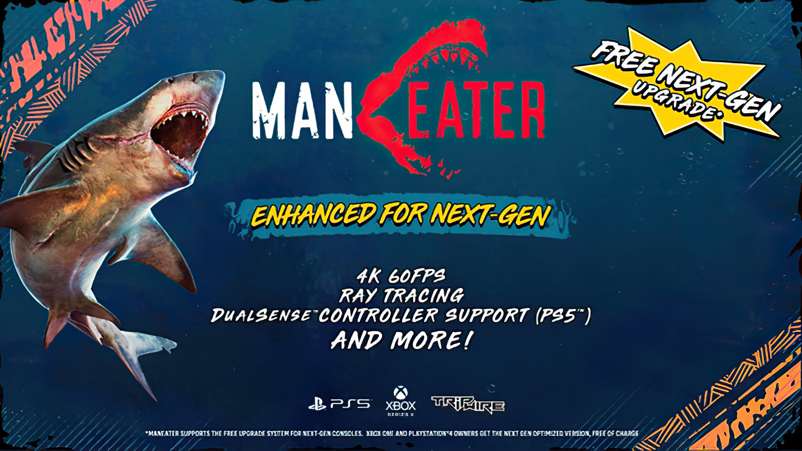 Maneater Evolves With Ray-Tracing, 4K 60 FPS & More Enhancements for Xbox Series X and PlayStation 5 Consoles