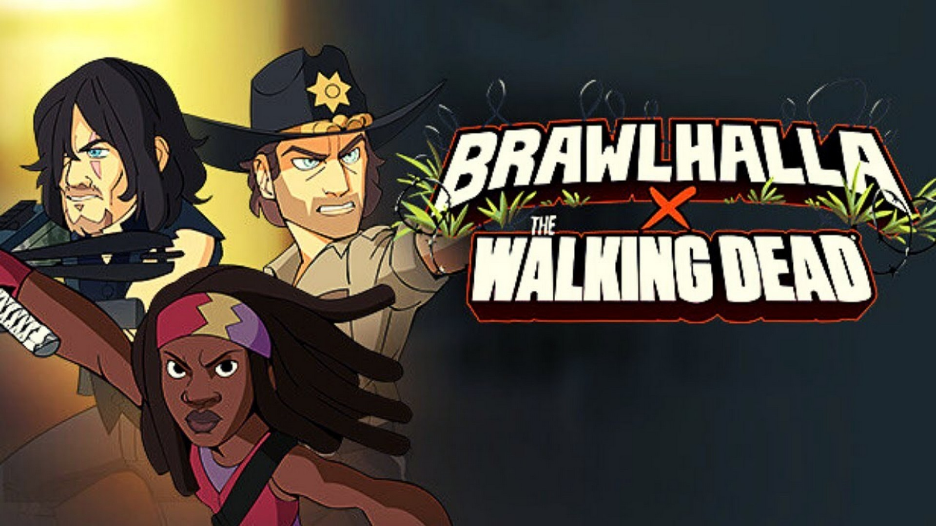 AMC's The Walking Dead's Michonne, Rick Grimes and Daryl Dixon Available Today in BRAWLHALLA As Epic Crossovers