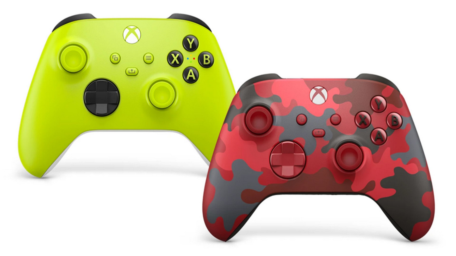 Make A Statement With The New Xbox Wireless Controllers: Electric Volt & Daystrike Camo Special Edition