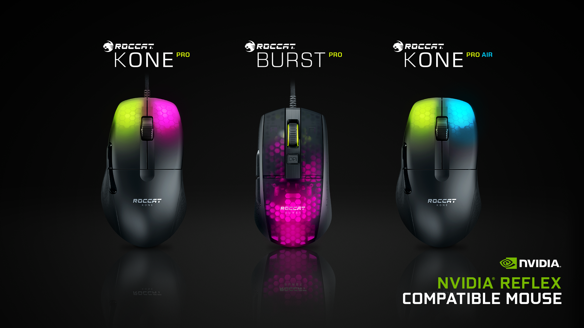 Roccats Pro Line Of PC Gaming Mice Support NVIDIA's Reflex Latency Analyser